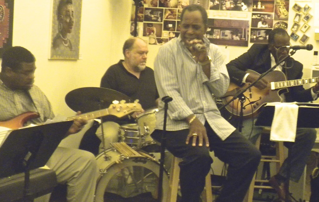 """Notable Richmond-based jazz musicians, together as Sketches, add """"flava"""" during day 1 of Malcolm X Day Black Book Expo at Elegba Folklore Society's Cultural Center in the downtown RVA Arts District. 5/18/13"""